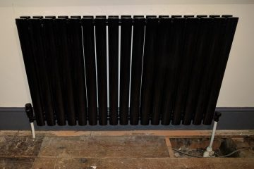 stylish black radiator