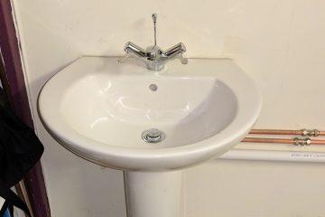 mixer basin white