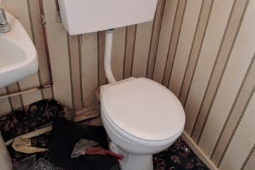 low level toilet replaced