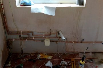 kitchen new pipework